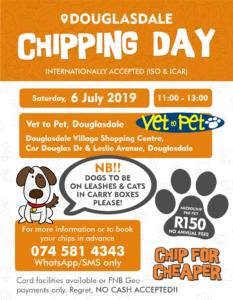 Pet Chipping Day @ Vet To Pet Douglasdale | Sandton | Gauteng | South Africa
